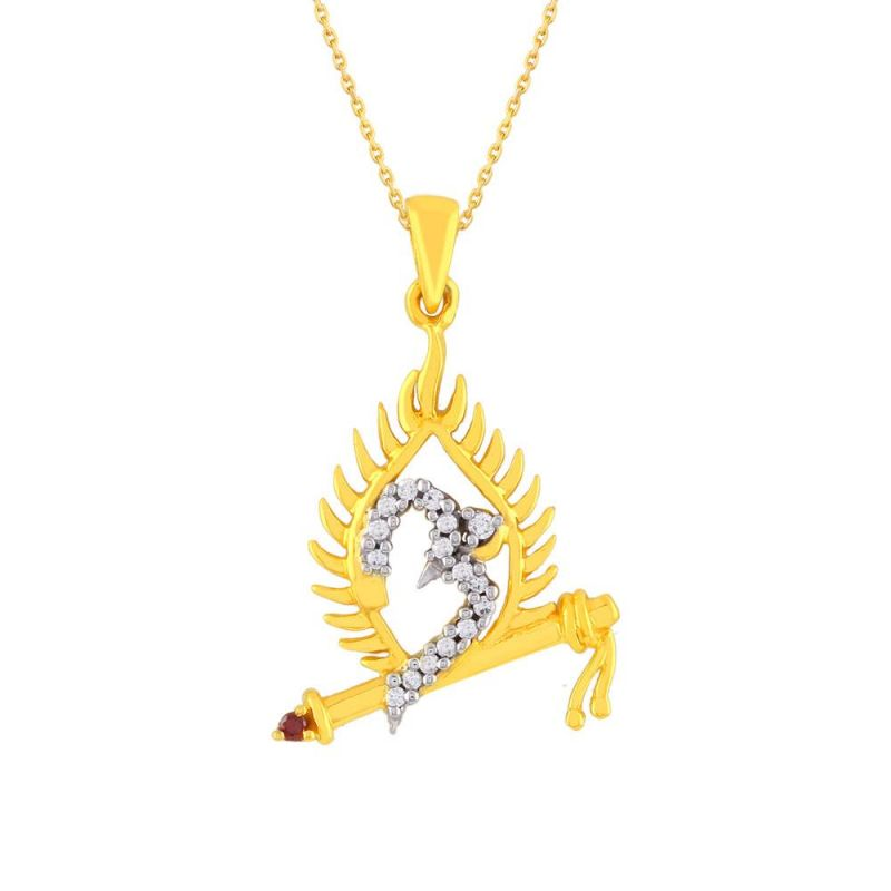 Buy Saumya Yellow Gold Diamond Pendant online