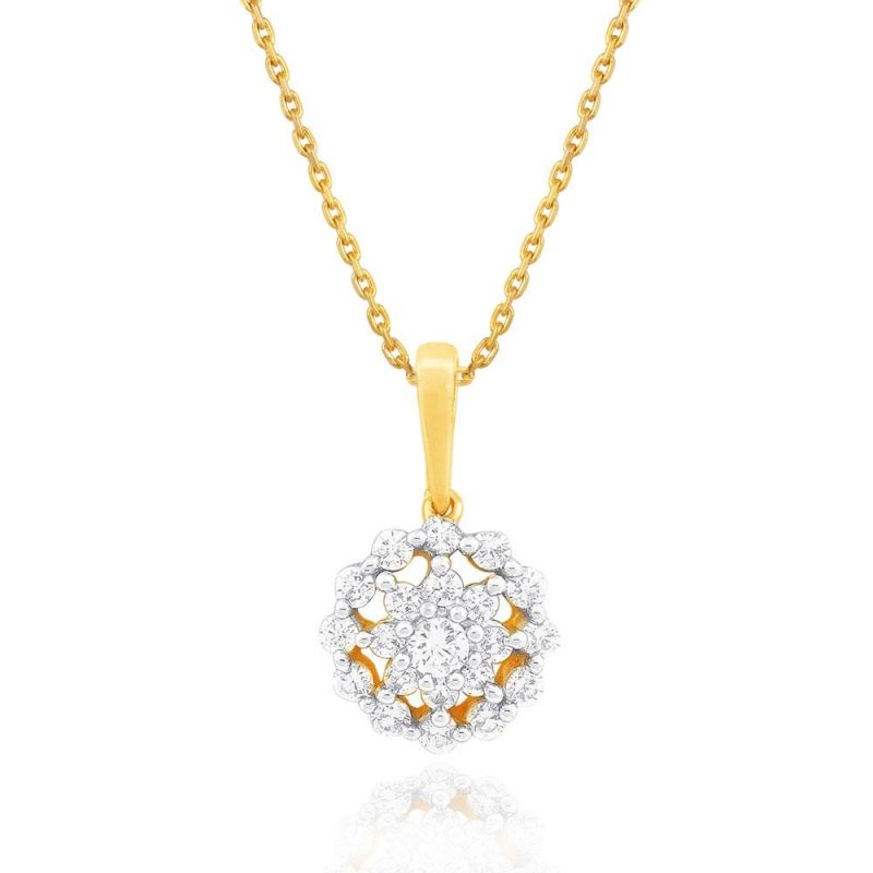 Buy Nakshatra Yellow Gold Diamond Pendant Npa520si-jk18y online