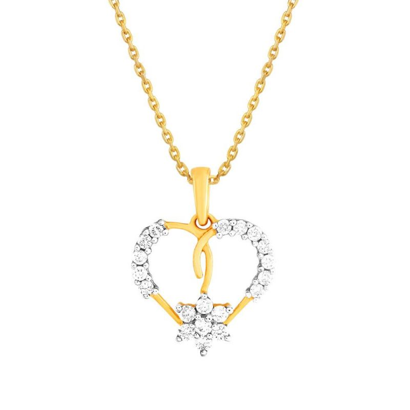 Buy Nirvana Yellow Gold Diamond Pendant Npc064si-jk18y online
