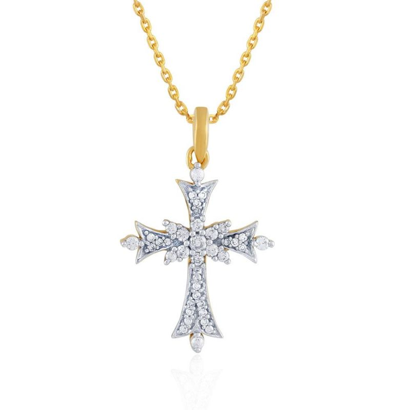Buy Saumya Yellow Gold Diamond Pendant Npc176si-jk18y online