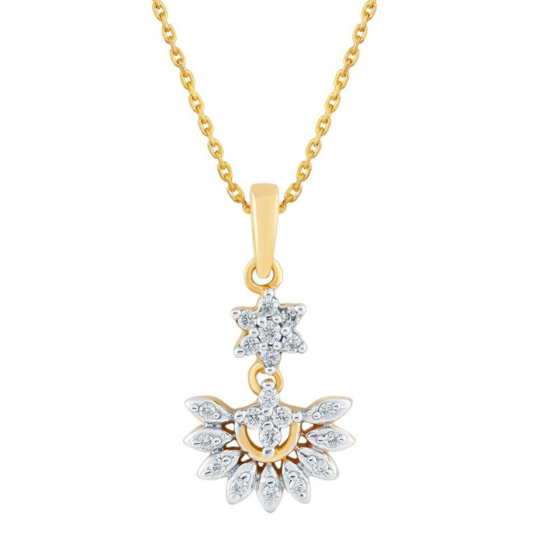 Buy Nakshatra Yellow Gold Diamond Pendant Npc261si-jk18y online
