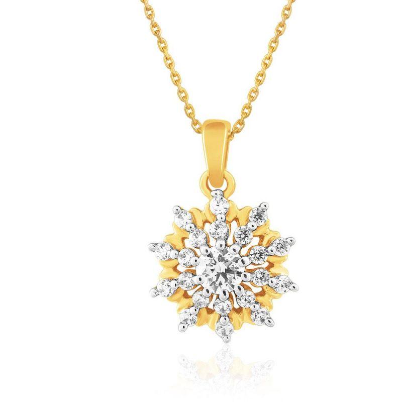 Buy Sangini Yellow Gold Diamond Pendant Npc539si-jk18y online