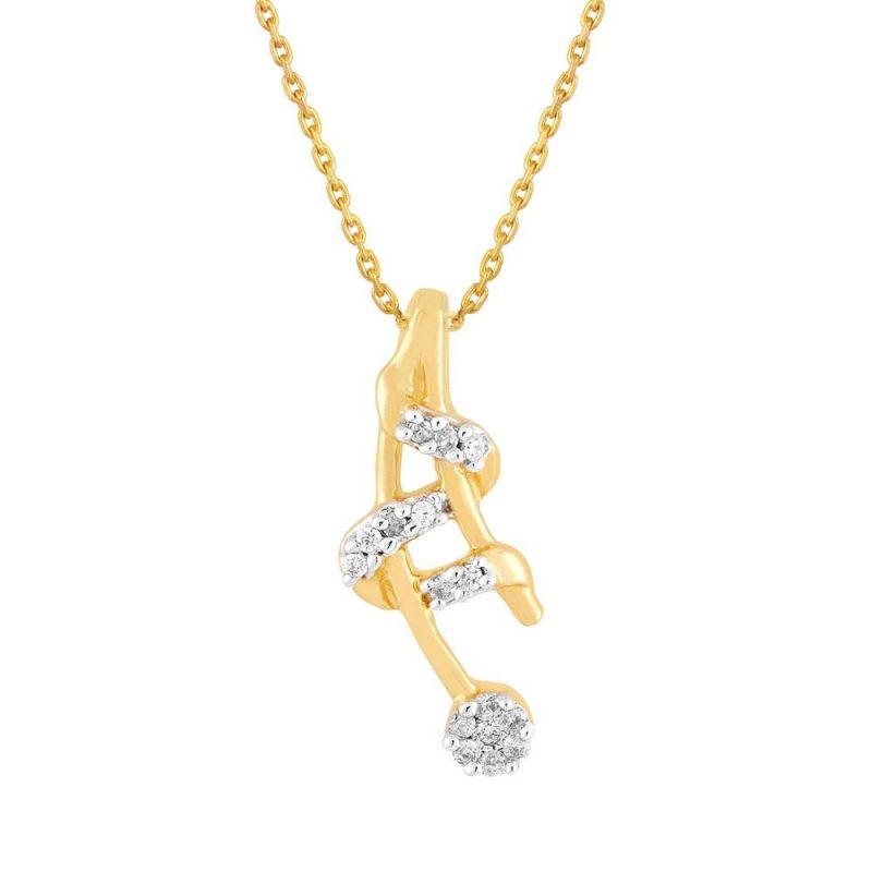 Buy Nirvana Yellow Gold Diamond Pendant Rdp00237si-jk18y online