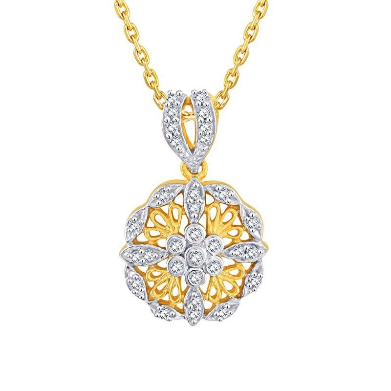 Buy Sangini Yellow Gold Diamond Pendant Dnp473si-jk18y online