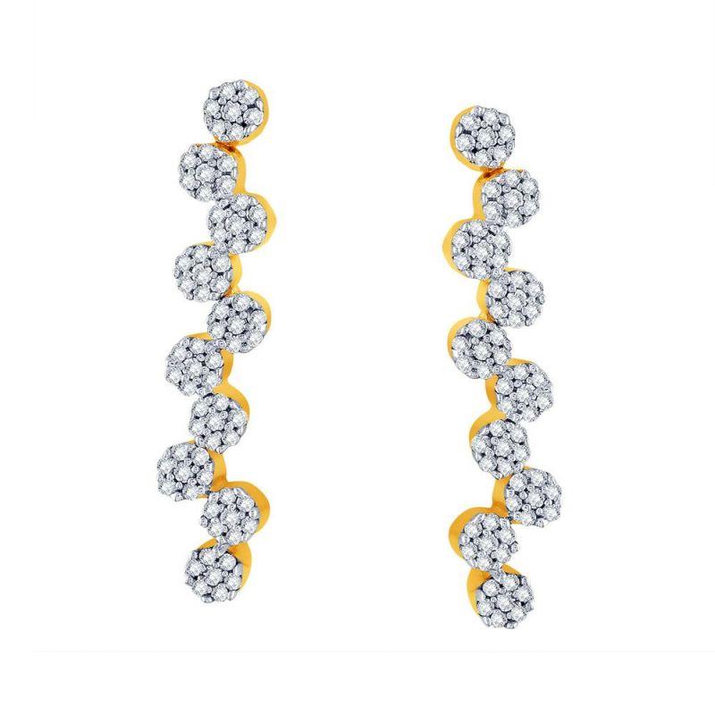 Buy Sangini Yellow Gold Diamond Earrings Ee938si-jk18y online