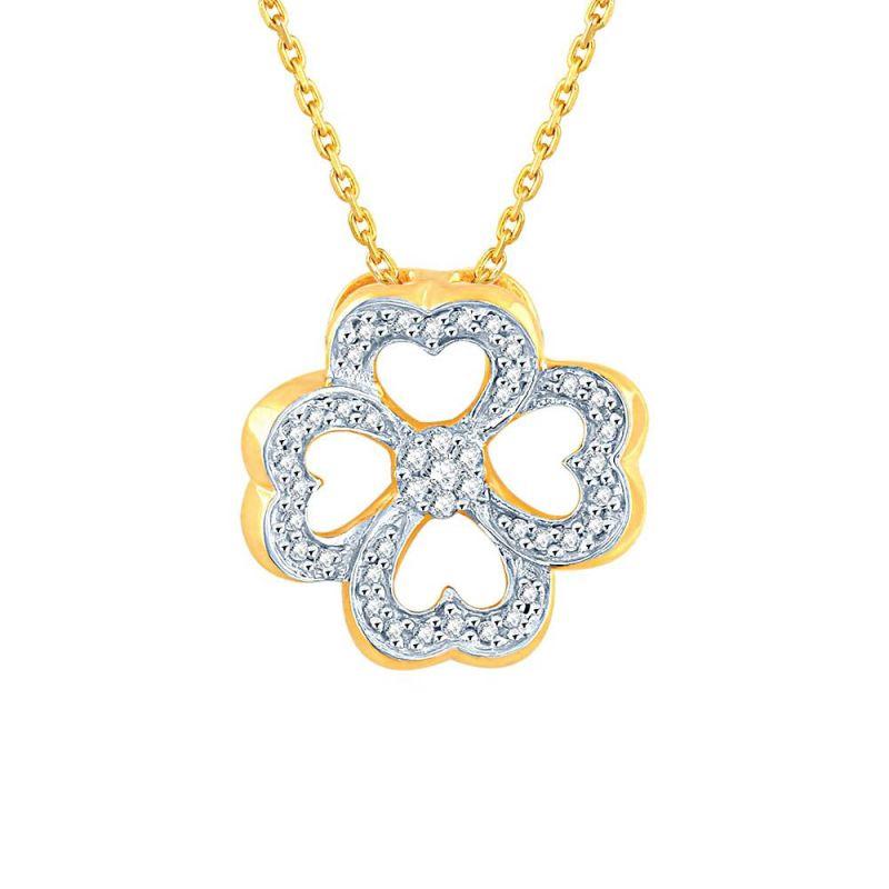 Buy Nirvana Yellow Gold Diamond Pendant Ip097si-jk18y online