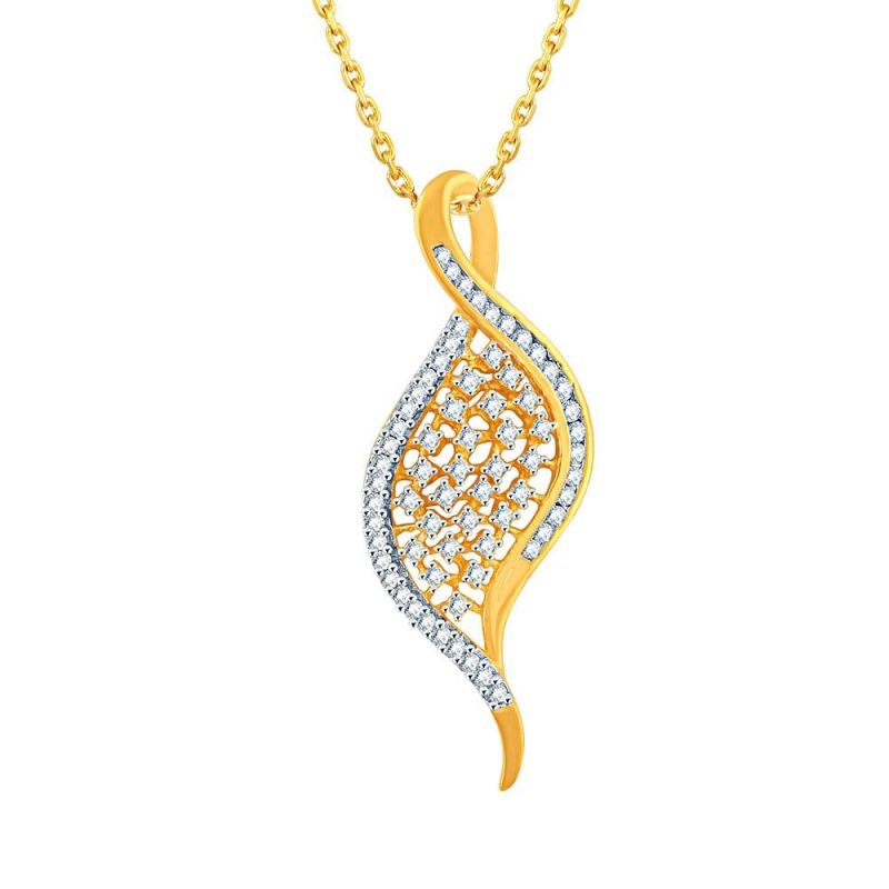 Buy Sangini Yellow Gold Diamond Pendant Pp17516si-jk18y online