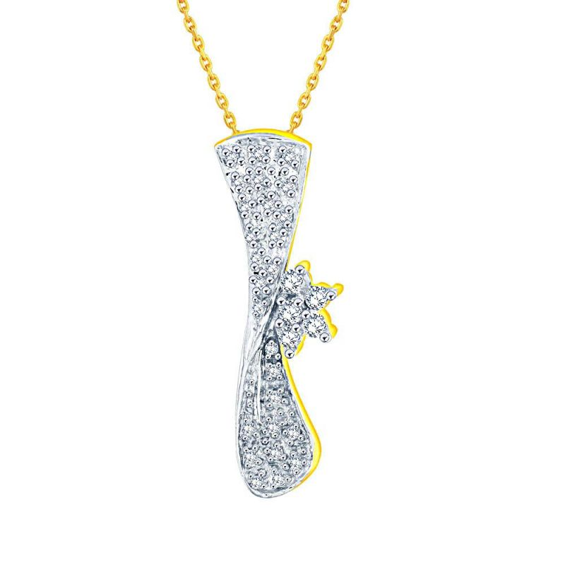 Buy Nakshatra Yellow Gold Diamond Pendant Dnp390si-jk18y online