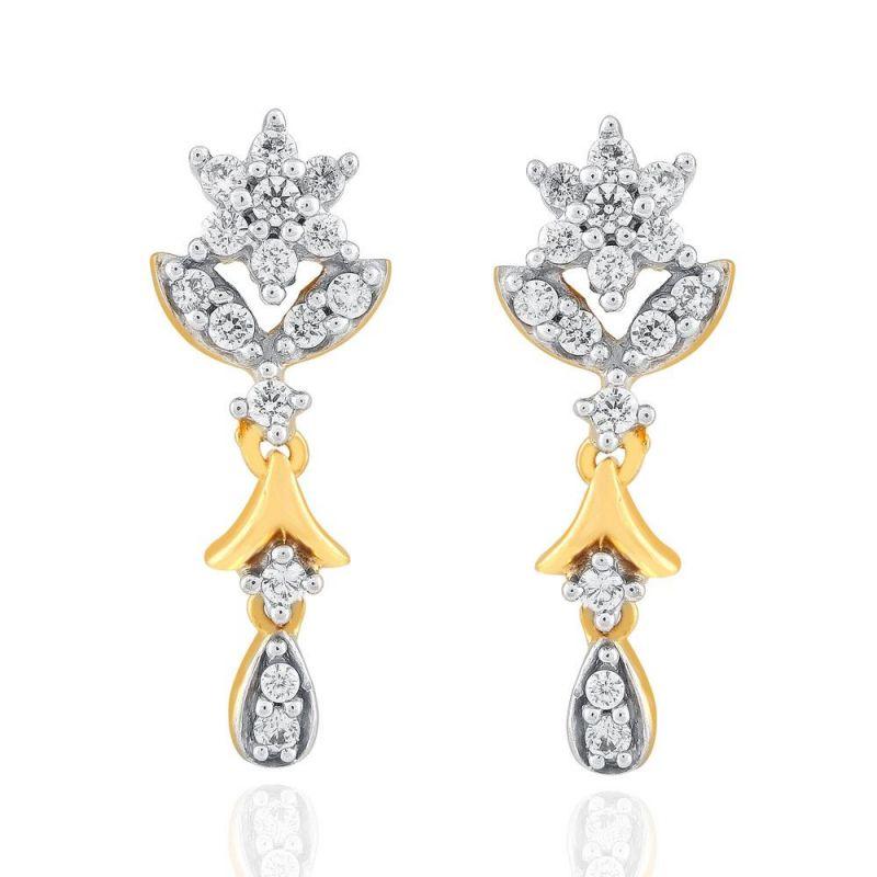 Buy Nakshatra Yellow Gold Diamond Earrings Dde02161si-jk18y online
