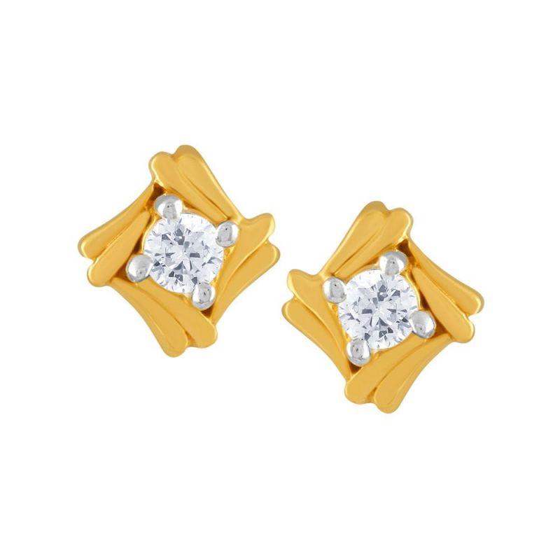 Buy Asmi Yellow Gold Diamond Earrings Pe14257si-jk18y online