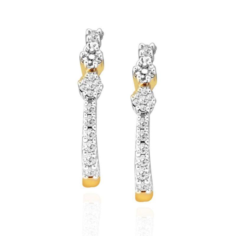 Buy Nirvana Yellow Gold Diamond Earrings Rde00041si-jk18y online