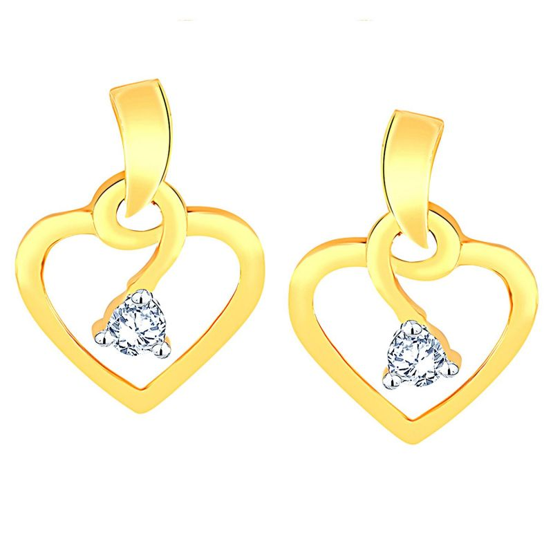 Buy Shuddhi Yellow Gold Diamond Earrings Ade00334si-jk18y online
