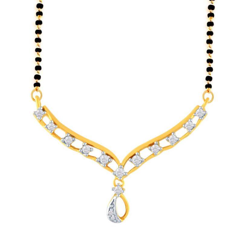 Buy Gili Yellow Gold Diamond Mangalsutra Fp444si-jk18y online