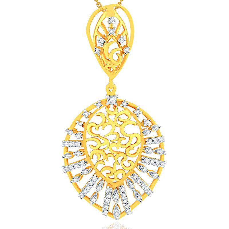 Buy Nirvana Yellow Gold Diamond Pendant Aap067si-jk18y online
