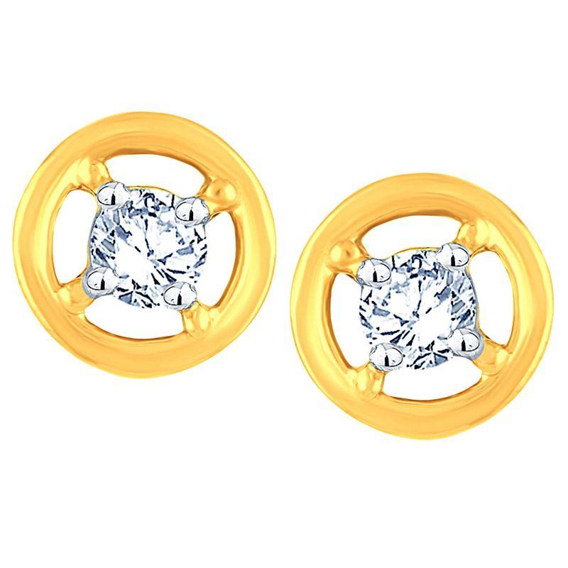 Buy Me-solitaire Yellow Gold Diamond Earrings De360si-jk18y online