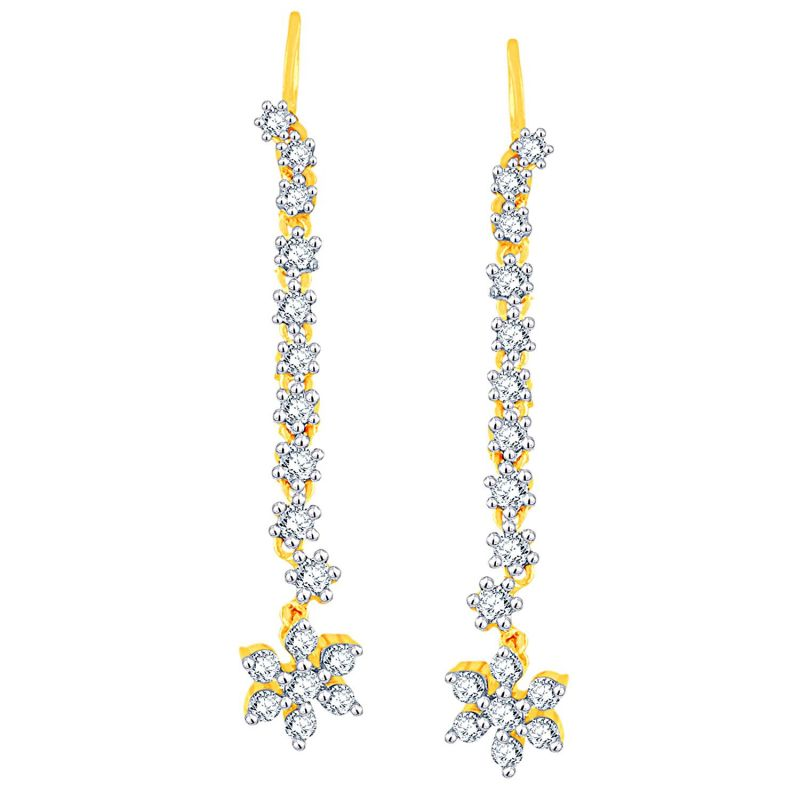 Buy Nakshatra Yellow Gold Diamond Earrings Ue585si-jk18y online