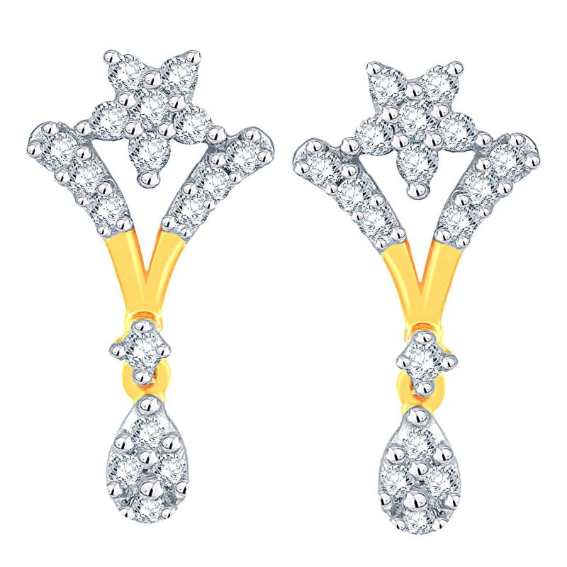 Buy Nakshatra Yellow Gold Diamond Earrings Ade01350si-jk18y online