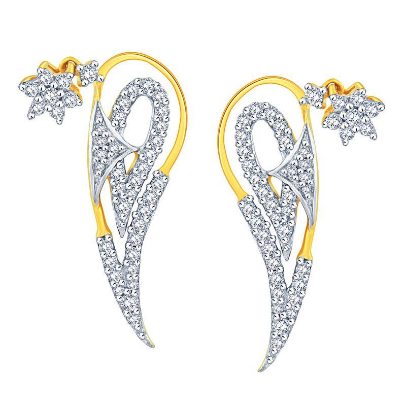 Buy Nakshatra Yellow Gold Diamond Earrings Abe020si-jk18y online