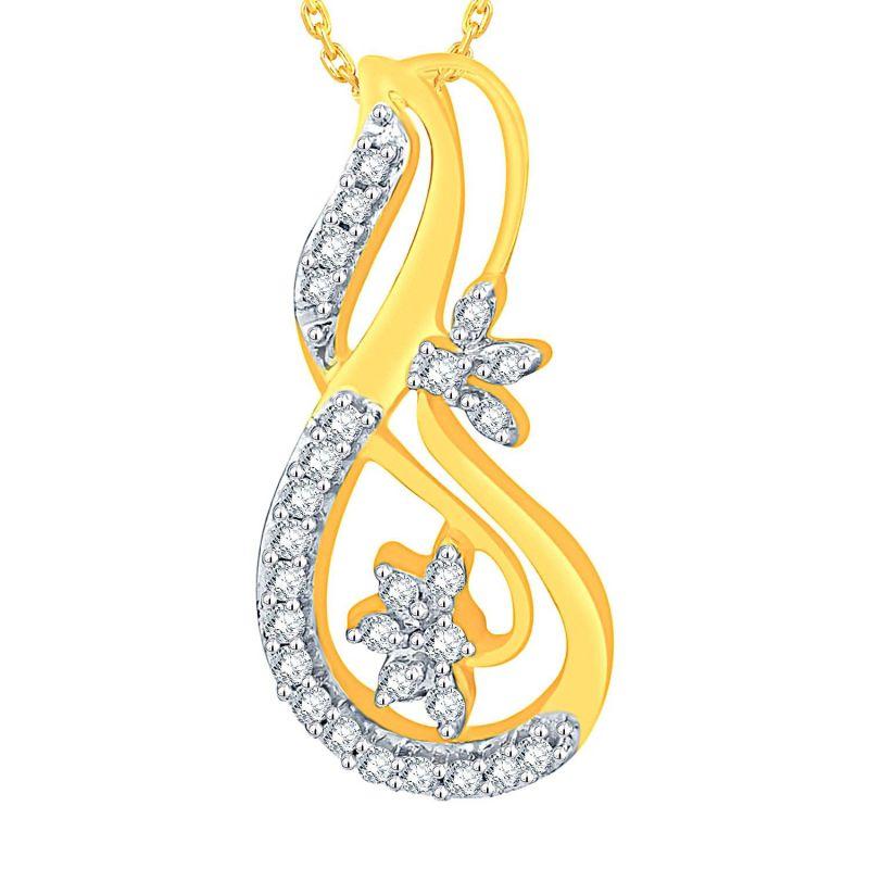 Buy Maya Diamond Yellow Gold Diamond Pendant Adp00606si-jk18y online