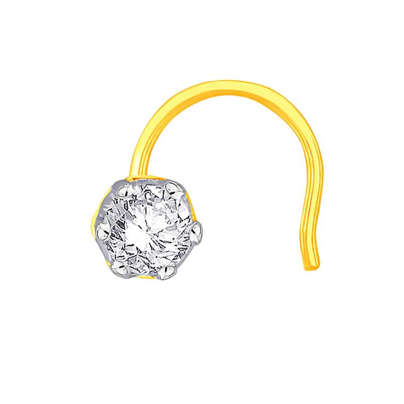 Buy Me-solitaire Yellow Gold Diamond Nosepin Aon070si-jk18y online
