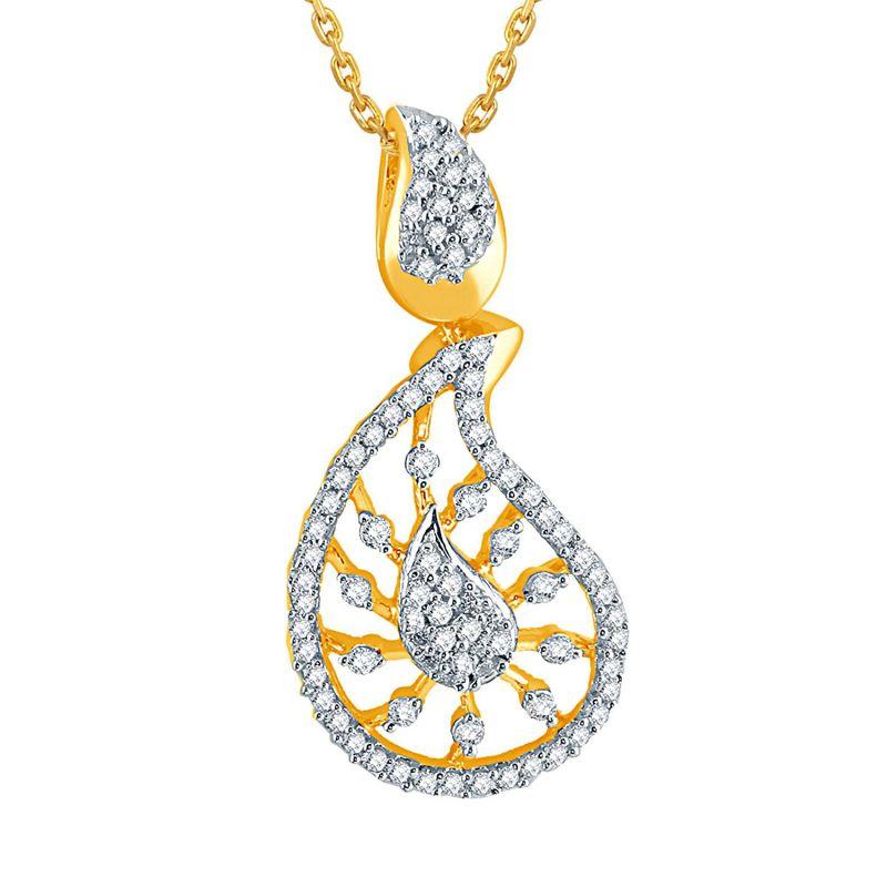 Buy Gili Yellow Gold Diamond Pendant Dp655si-jk18y online