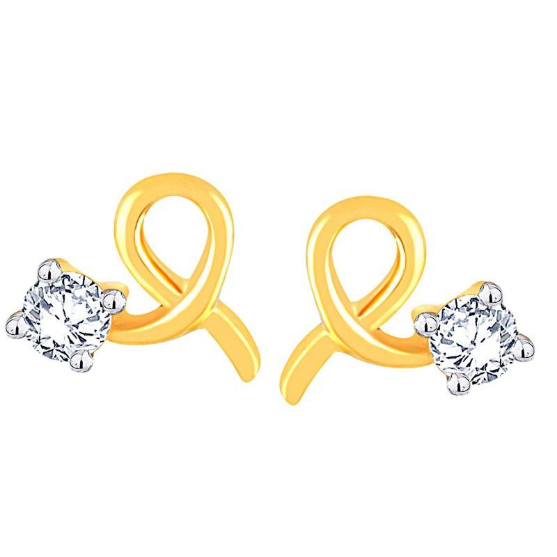 Buy Me-solitaire Yellow Gold Diamond Earrings Ae420si-jk18y online