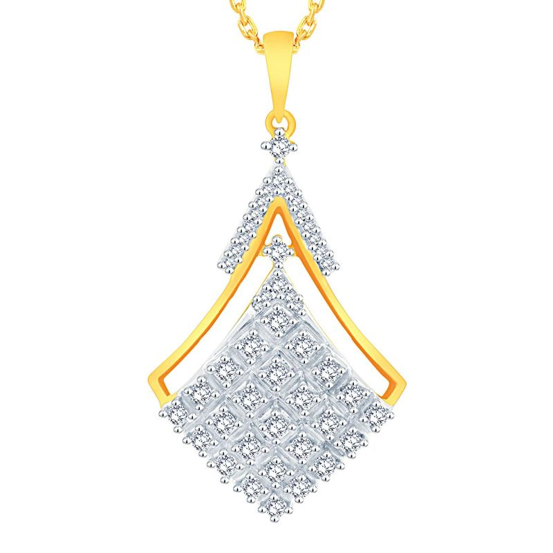 Buy Sangini Yellow Gold Diamond Pendant Aap398si-jk18y online