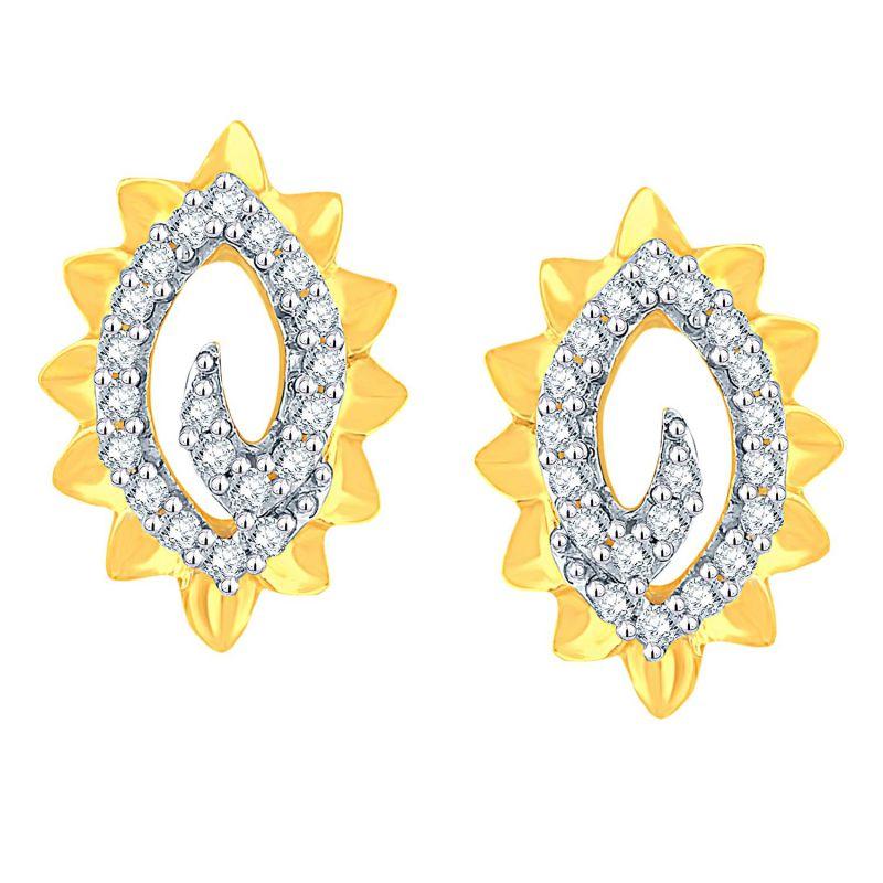 Buy Gili Yellow Gold Diamond Earrings Baep583si-jk18y online