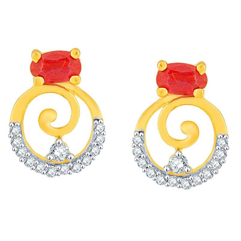 Buy Gili Yellow Gold Diamond Earrings Baep592si-jk18y online