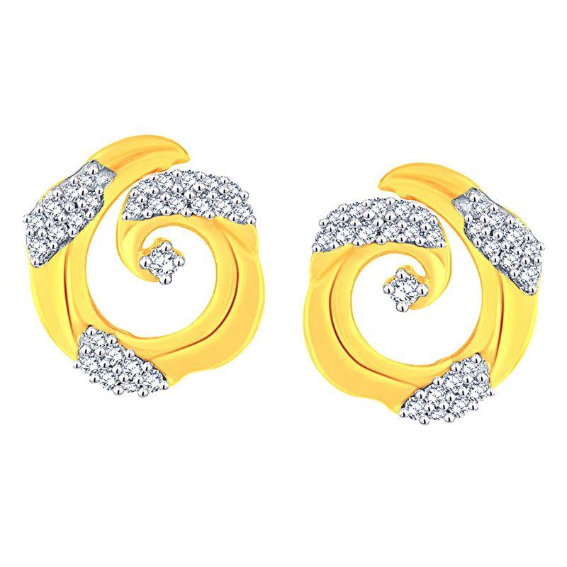 Buy Gili Yellow Gold Diamond Earrings Baep614si-jk18y online