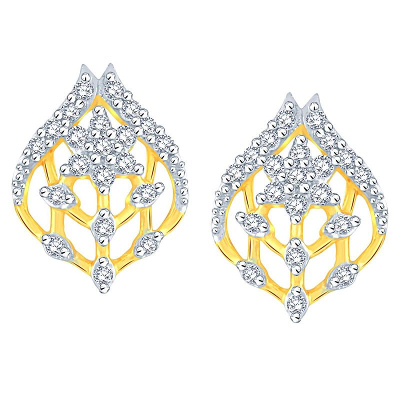 Buy Nakshatra Yellow Gold Diamond Earrings Baep731si-jk18y online
