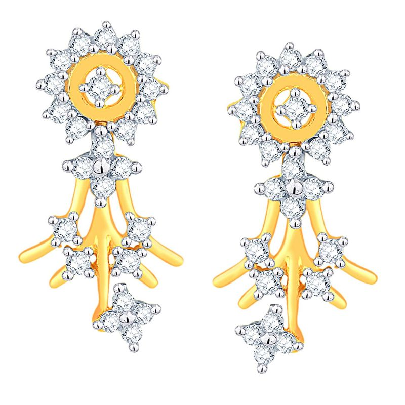 Buy Sangini Yellow Gold Diamond Earrings Dde01924si-jk18y online