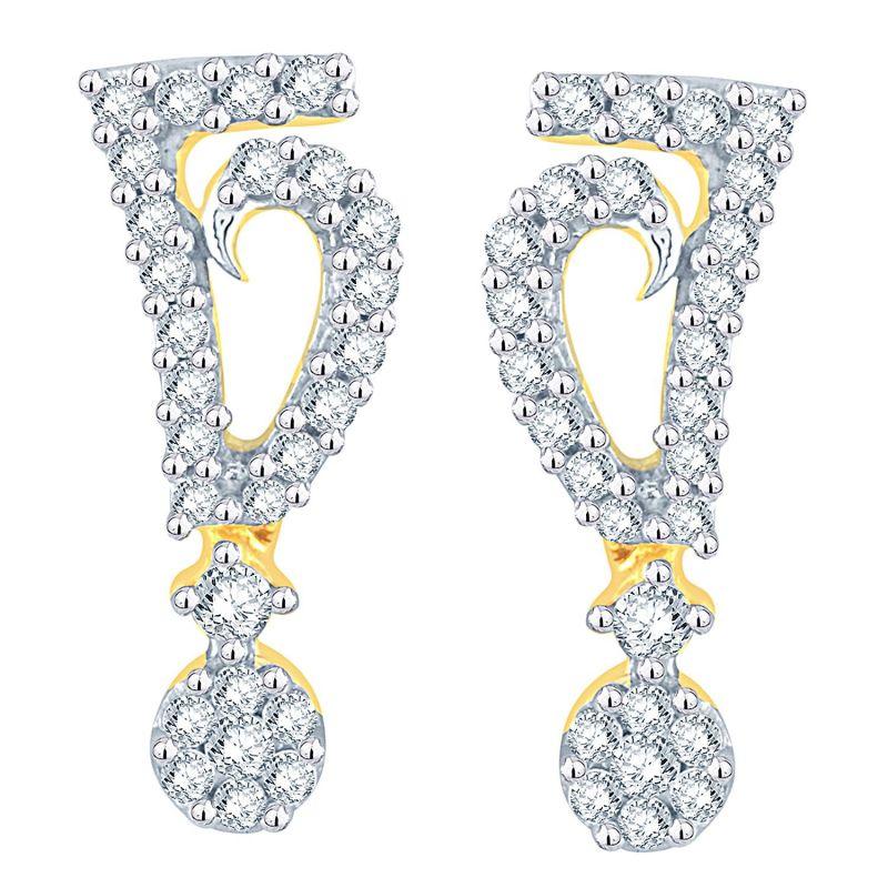 Buy Nirvana Yellow Gold Diamond Earrings Aaet134si-jk18y online