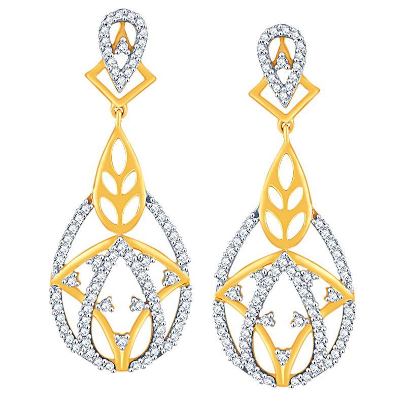 Buy Sangini Yellow Gold Diamond Earrings Ade00713si-jk18y online