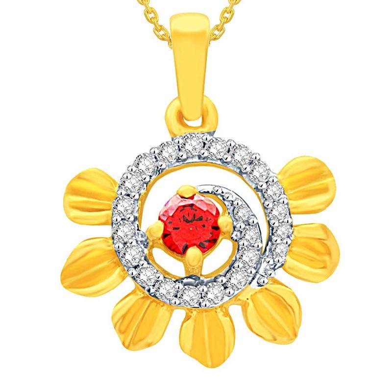 Buy Gili Yellow Gold Diamond Pendant Bap573si-jk18y online