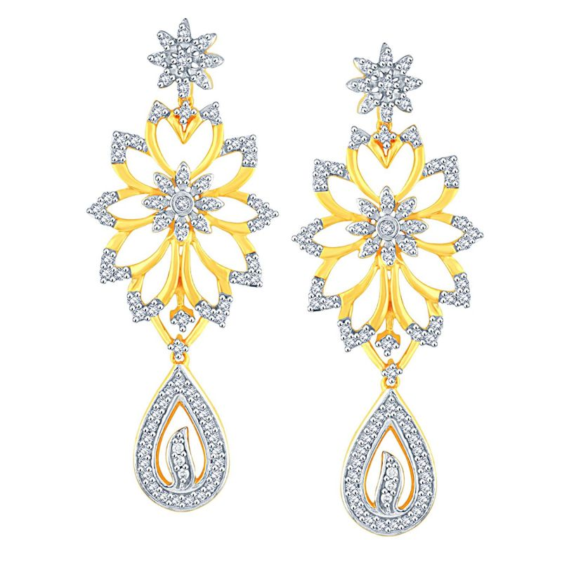 Buy Sangini Yellow Gold Diamond Earrings Dde02008si-jk18y online