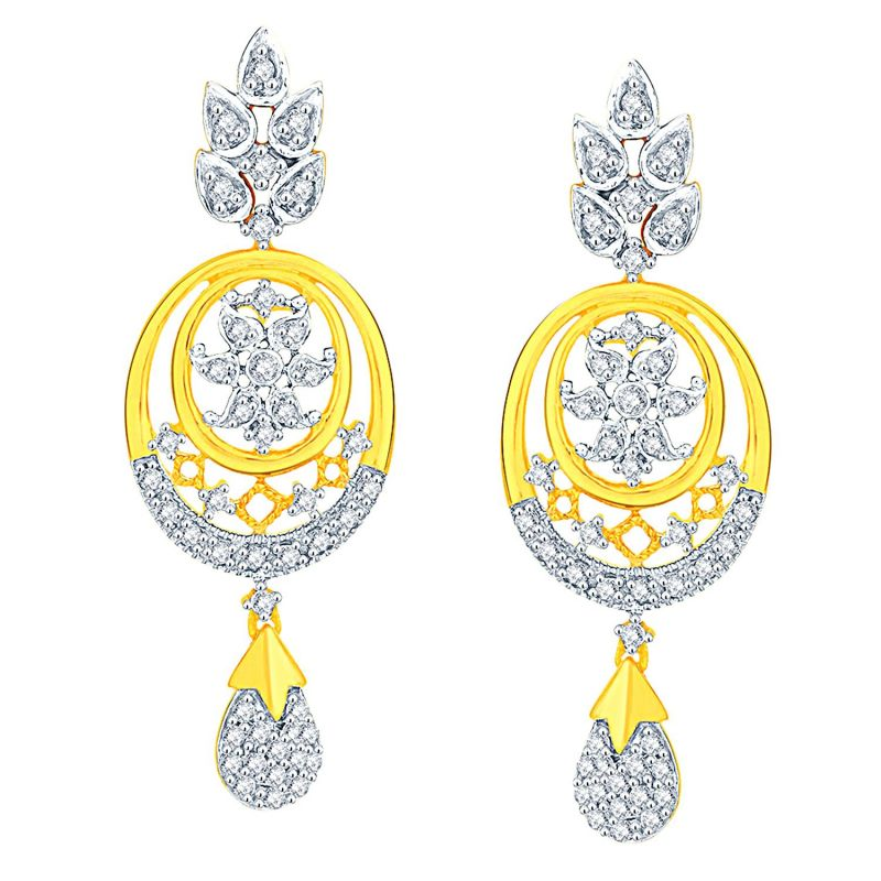Buy Sangini Yellow Gold Diamond Earrings Dde02009si-jk18y online