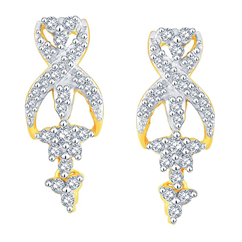 Buy Sangini Yellow Gold Diamond Earrings Le4166si-jk18y online