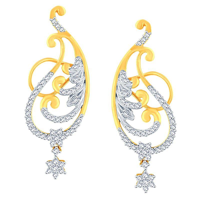 Buy Nakshatra Yellow Gold Diamond Earrings Nerb330si-jk18y online