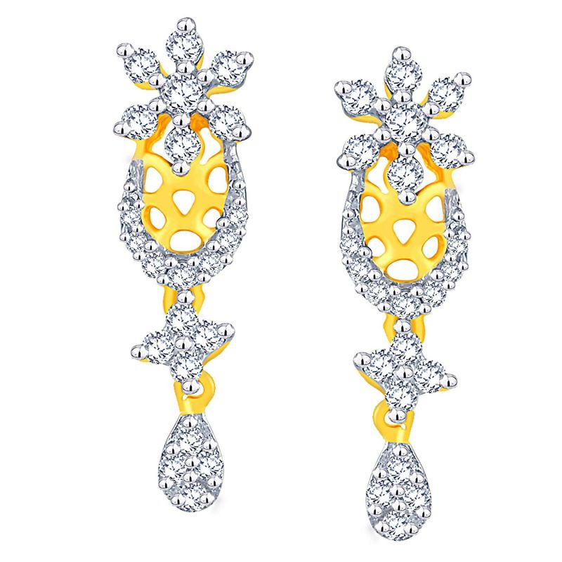 Buy Nakshatra Yellow Gold Diamond Earrings Nerc825si-jk18y online