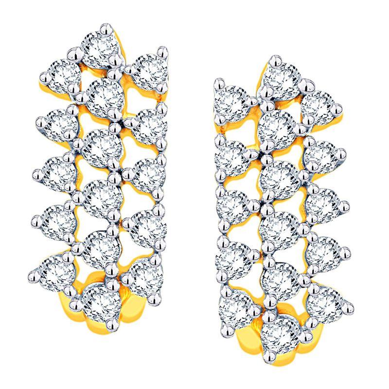 Buy Gili Yellow Gold Diamond Earrings Oen163si-jk18y online