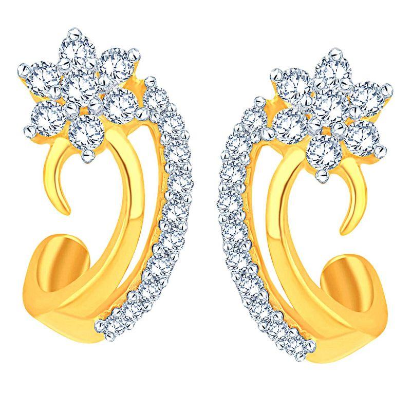 Buy Nakshatra Yellow Gold Diamond Earrings Nerc577si-jk18y online
