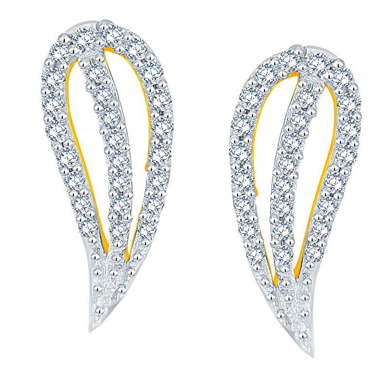 Buy Sangini Yellow Gold Diamond Earrings Pra1e3623si-jk18y online