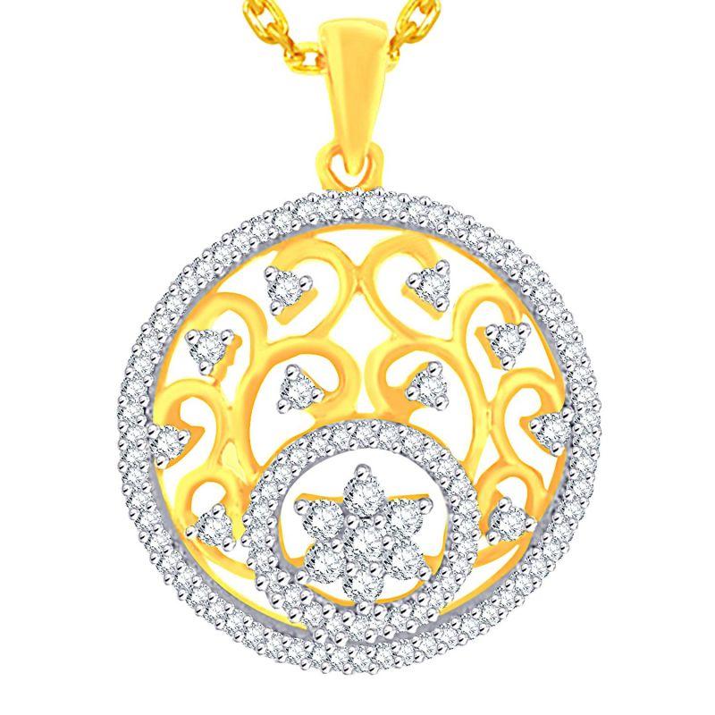Buy Maya Diamond Yellow Gold Diamond Pendant Npc409si-jk18y online