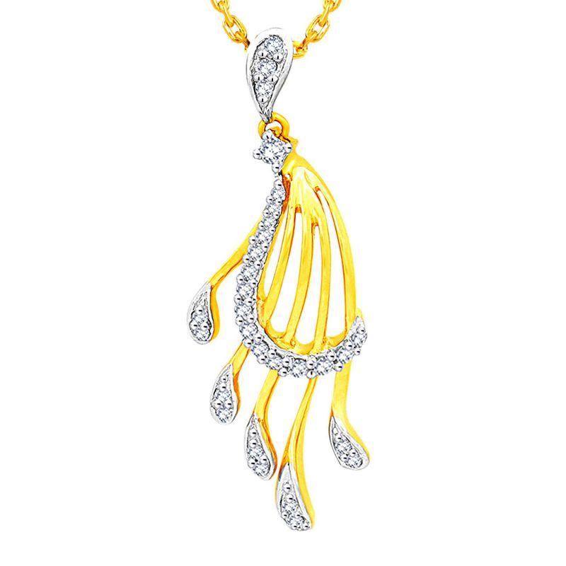 Buy Gili Yellow Gold Diamond Pendant Opm810si-jk18y online