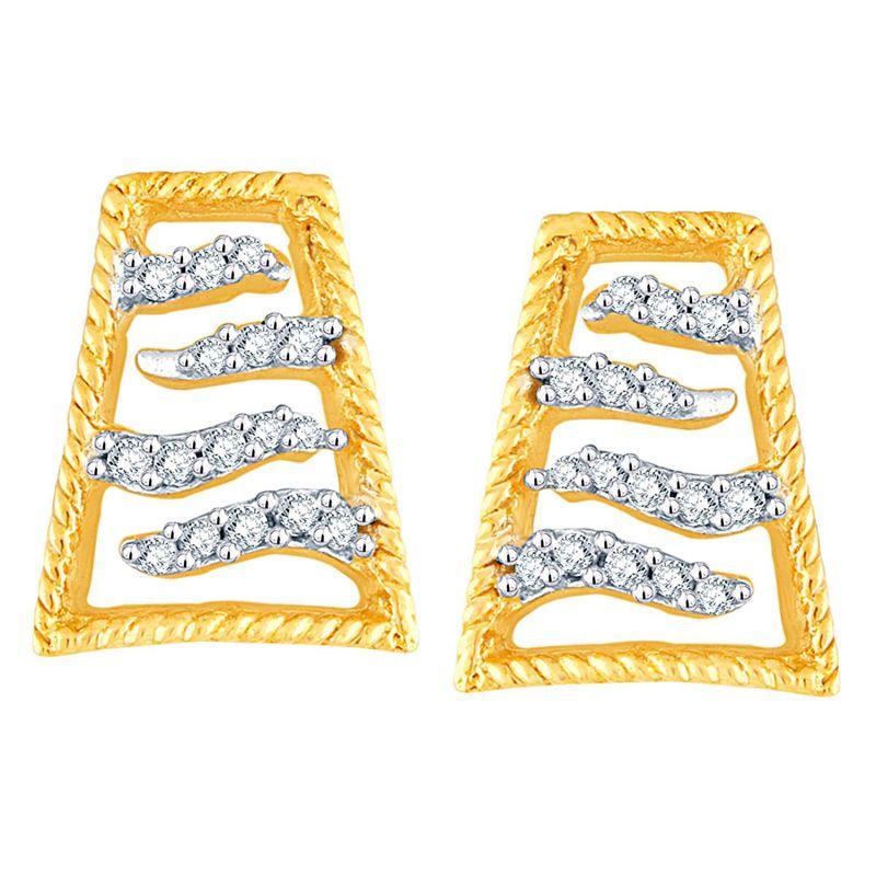 Buy Asmi Yellow Gold Diamond Earrings Aaep050si-jk18y online