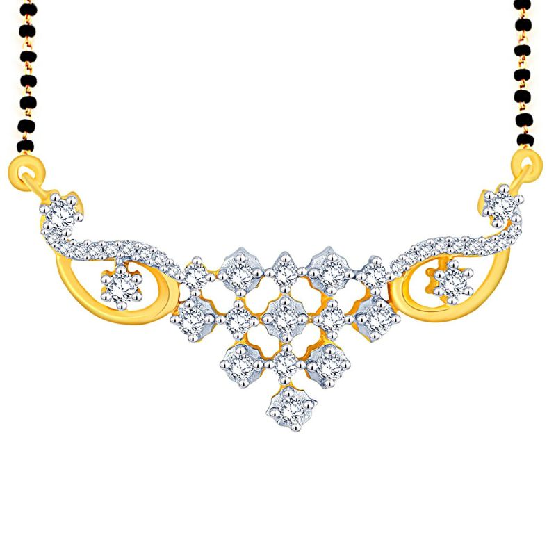 Buy Sangini Yellow Gold Diamond Mangalsutra online