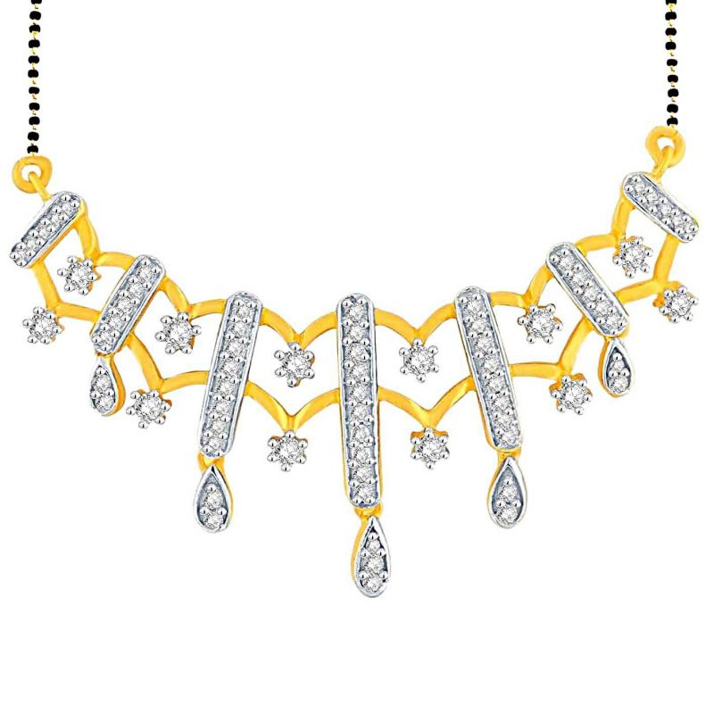 Buy Gili Yellow Gold Diamond Mangalsutra Opk752si-jk18y online