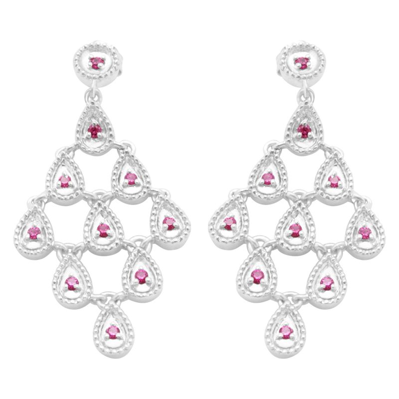 Buy Hoop Silver With Cz Diamond Silver Earring For Womens Ef4448 online