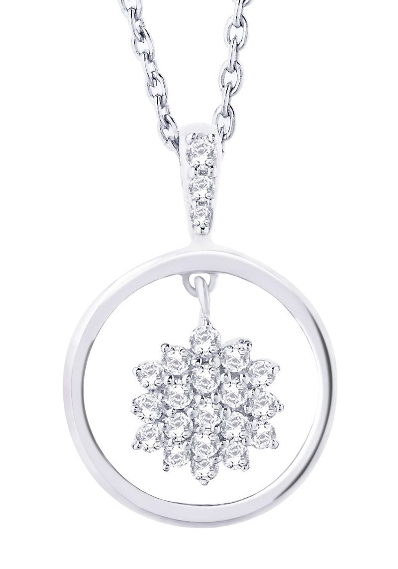 Buy Hoop Silver With Cz Diamond Silver Earring For Womens Ef8858 online